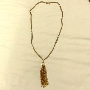 Ann Taylor Loft statement tassel necklace